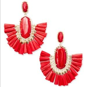 Kendra Scott red Cristina tassel earrings